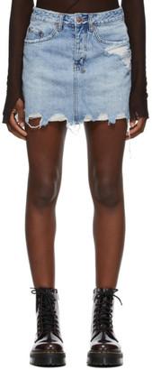 Ksubi Blue Denim Moss Miniskirt