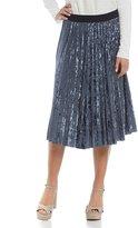 GB Crushed Velvet Midi Skirt