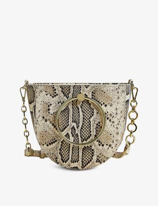 Ted Baker Nitza snake-embossed leather crossbody bag