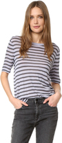 Alexander Wang Stripe Cropped Tee