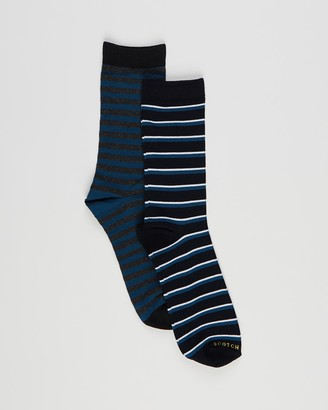 Scotch & Soda Men's Black Crew Socks - Chic Gentleman's Socks - Size 39-42 at The Iconic