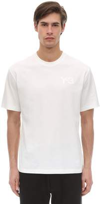 Y-3 Y 3 Logo Cotton Jersey T-shirt