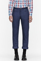 Thom Browne Blue Twill air force trousers