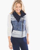 Chico's Claudia Stripe Quilt Vest