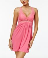 Thalia Sodi Lace-Bodice Knit Chemise, Only at Macy's