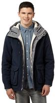 Red Herring Big And Tall Navy Quilted And Fleece Lined Hiking Jacket