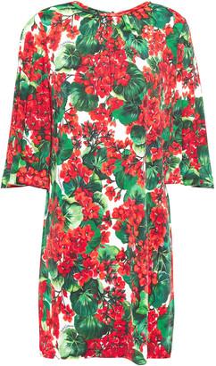 Dolce & Gabbana Floral-print Stretch-jersey Mini Dress