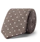 Richard James 7.5cm Polka-Dot Wool and Silk-Blend Tie