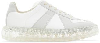 Maison Margiela White and Grey Caviar Replica Sneakers