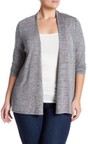 philosophy Open Front Cinched Cardigan (Plus Size)