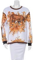 Balmain Neoprene Leopard Print Sweatshirt