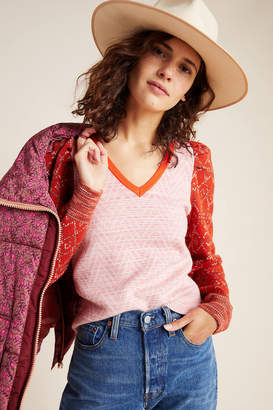 Anthropologie Cherie Puff-Sleeved Sweater