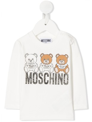 MOSCHINO BAMBINO Logo Graphic Print Top