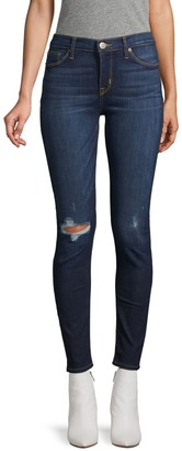 Hudson Jeans Krista Ripped Super Skinny Ankle Jeans