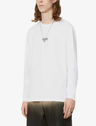 AllSaints State logo-print long-sleeve cotton T-shirt