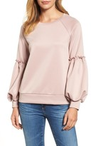 Halogen Women's Blouson Sleeve Sweatshirt