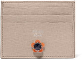 Fendi Embellished Textured-leather Cardholder - Mushroom