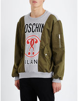 Moschino Logo-print Shell And Jersey Sweatshirt