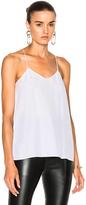 Tibi Classic Silk Cami in White.
