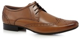 Red Herring Tan Leather Punched Hole Pointed Brogues