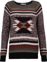 Autumn Cashmere Intarsia-knit cotton sweater
