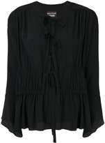 Moschino gathered tie neck blouse