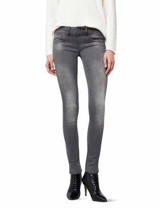 G Star Women's Lynn Mid Skinny Jeans in Slander Grey Superstretch