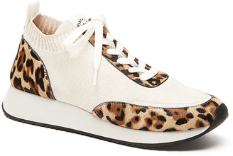 Loeffler Randall Remi Leopard-Print Lace-Up Sneakers