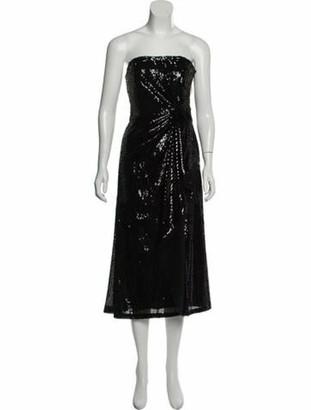 Prabal Gurung Sequin Embellished Knee-Length Dress Black