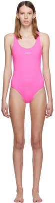 Vetements Pink Logo Baywatch One-Piece Swimsuit