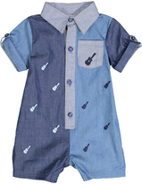 Wendy Bellissimo Blue Guitar Button-Front Romper - Infant