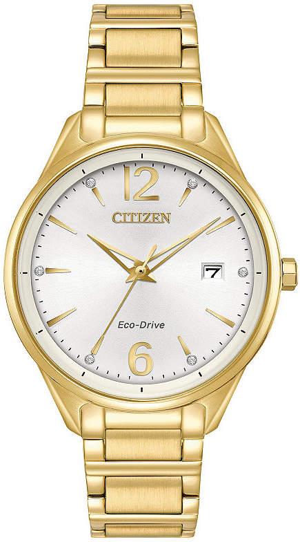 Citizen Womens Gold Tone Bracelet Watch-Fe6102-53a