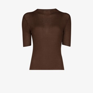 ST. AGNI Agata ribbed knitted top