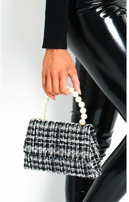 IKRUSH Chey Tweed Pearl Handle Mini Bag