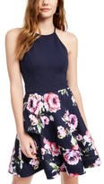 Speechless Juniors' Halter Fit & Flare Dress, Created for Macy's