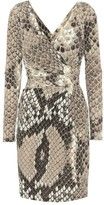 Roberto Cavalli Snakeskin-printed jersey dress
