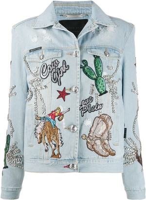 Philipp Plein Cowboy denim jacket
