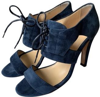 Tila March Blue Suede Sandals