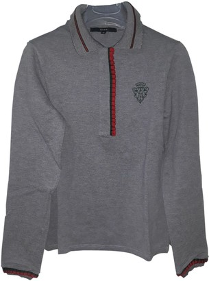 Gucci Grey Cotton Knitwear