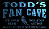 AdvPro Name tg088-b Todd's Hockey Fan Cave Man Room Bar Beer Neon Light Sign