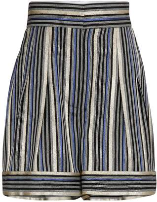 Peter Pilotto Lurex striped shorts