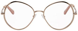 Chloé Gold Metal Oval Glasses