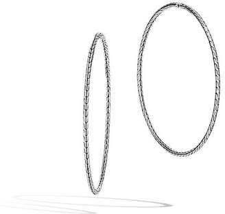 John Hardy Classic Chain Silver Extra-Large Hoop Earrings