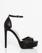 Le Château Leather-Like Open Toe Platform Sandal