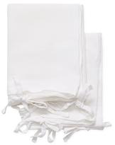 Melange Home Triple Tie Linen Shams (Set of 2)