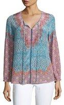 Tolani Pamela Printed Silk Tunic, Plus Size