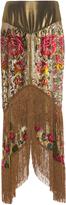 Anna Sui Garland Panel Fringe Skirt