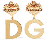 Dolce & Gabbana Gold-plated Clip Earrings - one size
