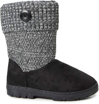 Gold Toe Goldtoe GoldToe Women's Casual boots BLK - Black Button-Accent Ankle Boot - Women