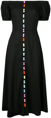 Olivia Rubin rainbow button dress